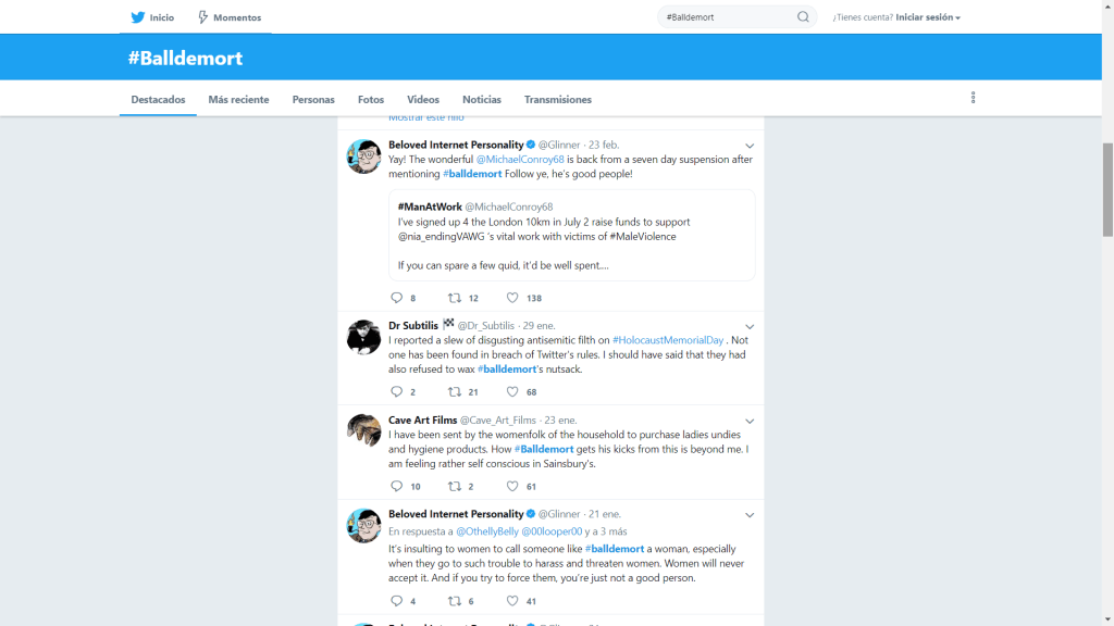 Expulsión de Twitter por alertar sobre un presunto pedófilo